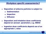 workplace specific assessments 2