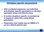 workplace specific assessments