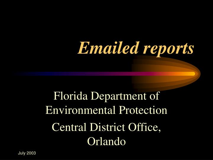 emailed reports n.