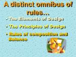 a distinct omnibus of rules