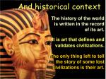 and historical context