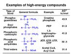 examples of high energy compounds