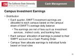 campus investment earnings