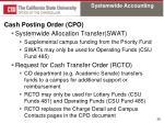 cash posting order cpo2