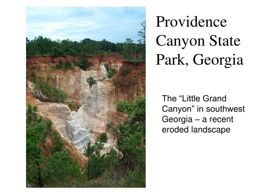 providence canyon state park georgia l.