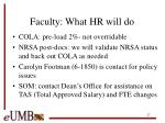 faculty what hr will do