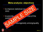 meta analysis objectives