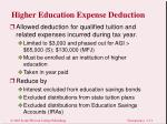 higher education expense deduction