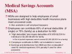 medical savings accounts msa