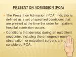 present on admission poa