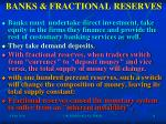 banks fractional reserves