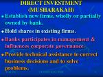 direct investment musharakah
