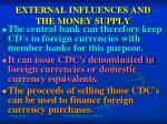 external influences and the money supply1