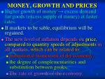 money growth and prices