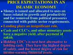price expectations in an islamic economy