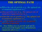 the optimal path