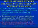 the relationship between inflation rate and the rate of monetary expansion