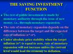 the saving investment function1