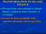 transformation to islamic finance