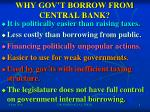 why gov t borrow from central bank