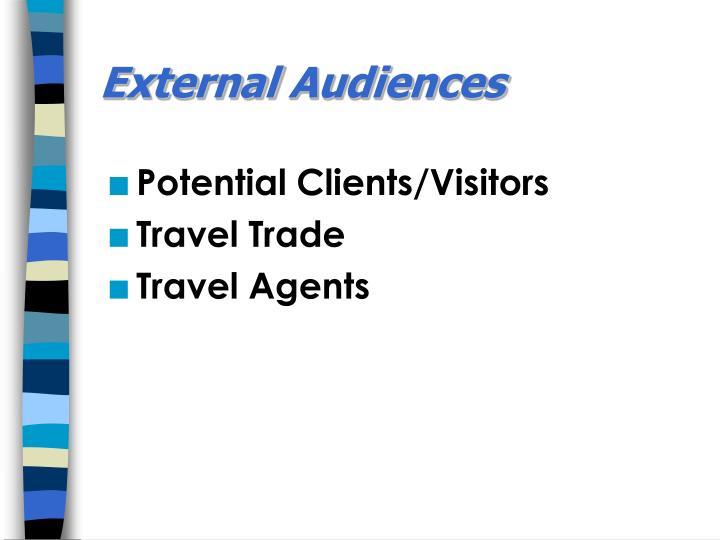 External audiences
