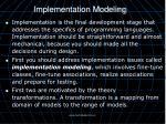 implementation modeling