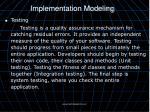 implementation modeling3