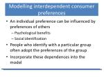 modelling interdependent consumer preferences