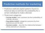 predictive methods for marketing