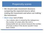propensity scores1