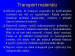 transport materi lu