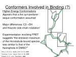 conformers involved in binding