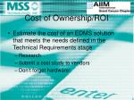 cost of ownership roi