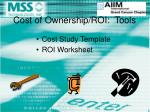 cost of ownership roi tools