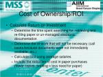 cost of ownership roi11