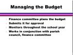 managing the budget