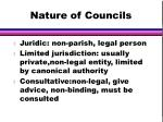 nature of councils