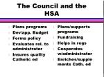 the council and the hsa