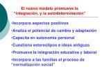 el nuevo modelo promueve la integraci n y la autodeterminaci n
