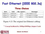 fast ethernet ieee 802 3u three choices