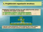 1 projektov n organiza n struktury