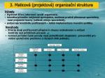 3 maticov projektov organiza n struktura