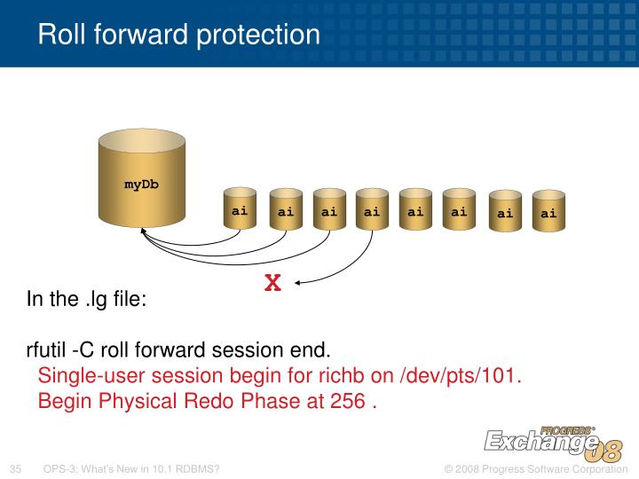 Roll forward protection