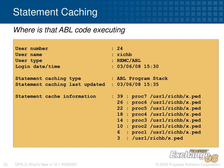 Statement Caching