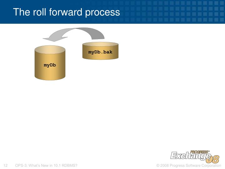 The roll forward process
