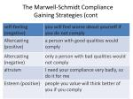 the marwell schmidt compliance gaining strategies cont1