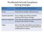the marwell schmidt compliance gaining strategies