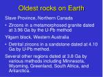 oldest rocks on earth