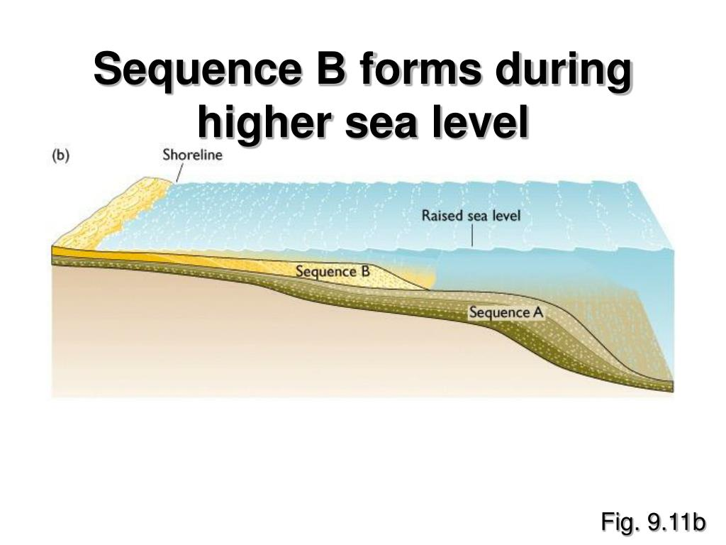Sequence B forms during higher sea level