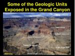 some of the geologic units exposed in the grand canyon